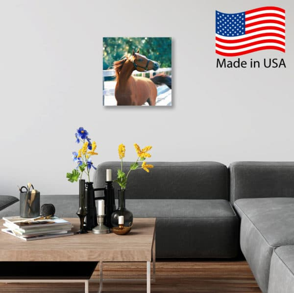 Chestnut at Liberty Mounted Canvas in Living Room