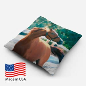 Chestnut at Liberty on 14 inch Throw Pillow