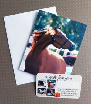 art.ilovehorses.net Gift Card + FREE Note Card and Envelope
