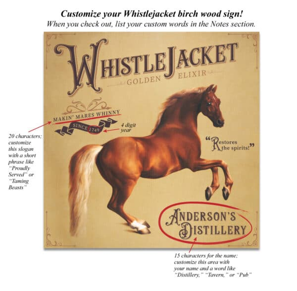 Whistlejacket Custom Birch Sign